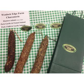 British Charcuterie Wenlock Edge Farm Salami selection (1kg)