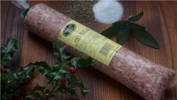 Pork, plum and ginger sausage meat