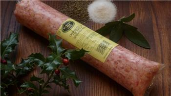 Pork, cranberry and chestnut sausage meat