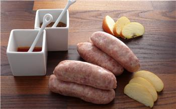 Gluten free pork and apple sausages